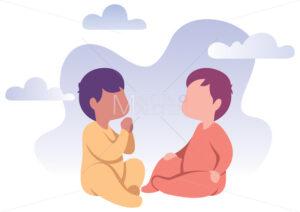 Babies Flat Design - Martin Malchev