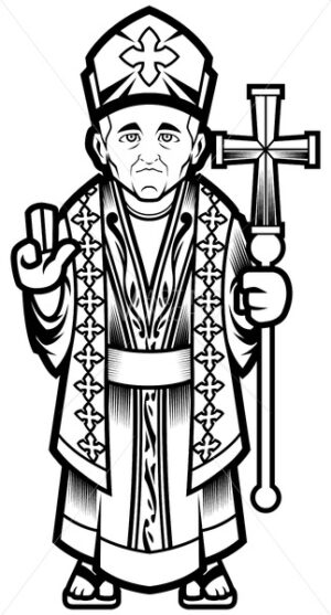 Bishop Line Art - Martin Malchev