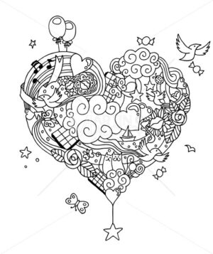 Love Doodle Line Art - Martin Malchev