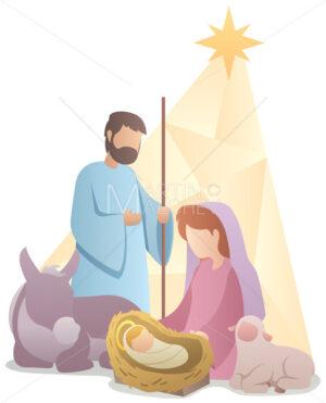 Nativity Scene Flat Design - Martin Malchev