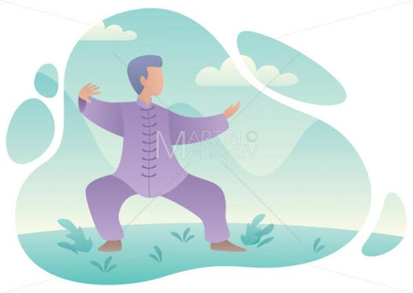 Qigong Practicing Man - Martin Malchev