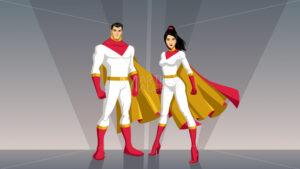 Superhero Couple Asian - Martin Malchev