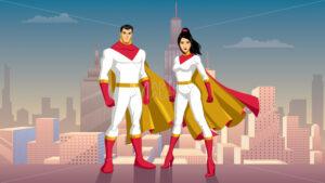 Superhero Couple Asian City Day - Martin Malchev