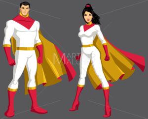 Superhero Couple Asian Isolated - Martin Malchev