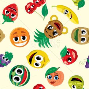 Cartoon Fruits Pattern - Martin Malchev