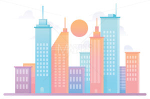 City Colorful Flat Design - Martin Malchev
