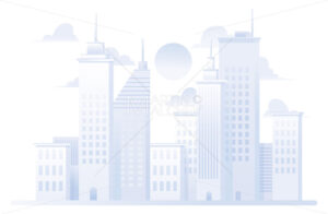 City Grey Flat Design - Martin Malchev