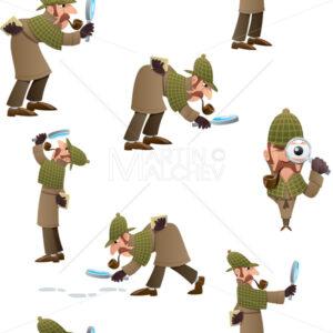 Detective Seamless Pattern - Martin Malchev