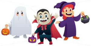 Halloween Kids on White - Martin Malchev