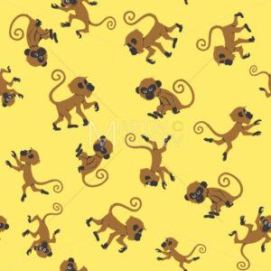 Monkeys Seamless Pattern - Martin Malchev