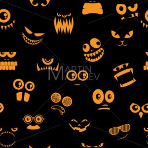 Monsters Halloween Pattern 2 - Martin Malchev