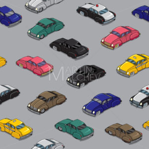 Retro Cars Pattern - Martin Malchev
