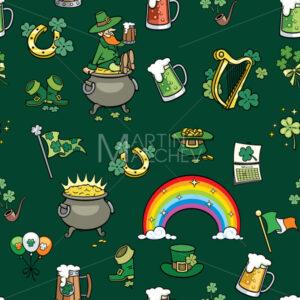Saint Patricks Day Elements Pattern - Martin Malchev