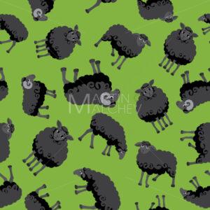 Sheep Black Pattern - Martin Malchev