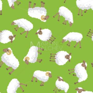 Sheep Seamless Pattern - Martin Malchev