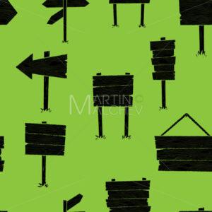 Wooden Signs Pattern - Martin Malchev