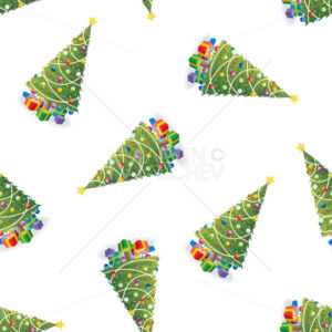 Christmas Tree and Gifts Colorful Pattern - Martin Malchev