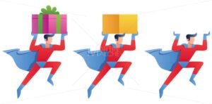 Superhero Bringing Something - Martin Malchev