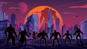 Super Team in Futuristic City - Martin Malchev