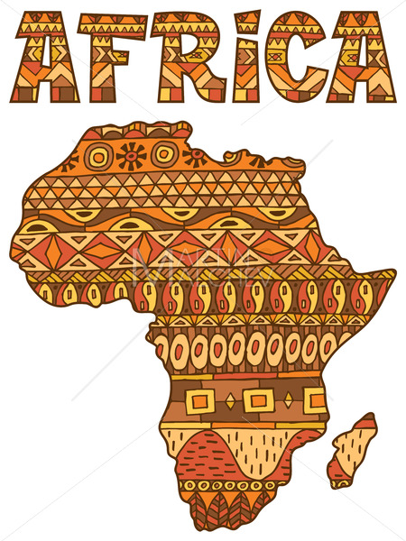 Africa Map Pattern - Martin Malchev