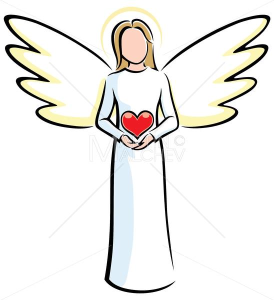 Angel Holding Heart - Martin Malchev