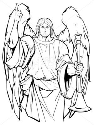 Archangel Gabriel Line Art - Martin Malchev