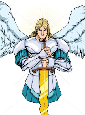 Archangel Michael Portrait 2 - Martin Malchev