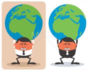 Businessman Holding Earth - Martin Malchev