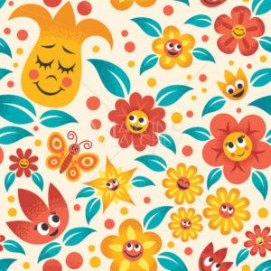 Cartoon Floral Pattern - Martin Malchev