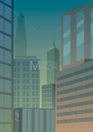 Cityscape Green - Martin Malchev