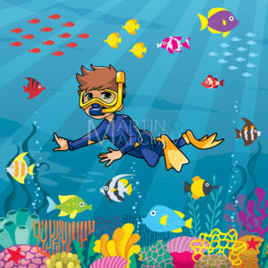 Diver Boy Undersea - Martin Malchev