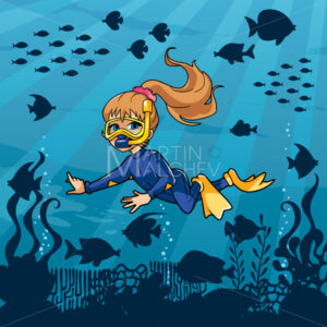 Diver Girl Undersea - Martin Malchev
