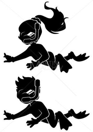 Diver Kids Silhouettes - Martin Malchev