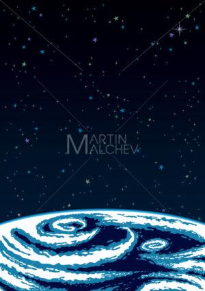 Earth Space Background - Martin Malchev