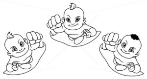 Flying Babies Line Art - Martin Malchev