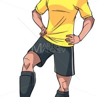 Football Player Illustration - Martin Malchev