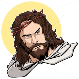 Jesus Portrait Illustration - Martin Malchev