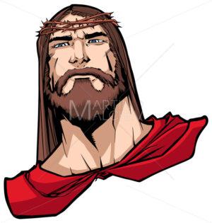 Jesus Superhero Portrait - Martin Malchev