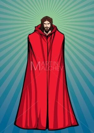 Jesus Superhero Standing Tall - Martin Malchev