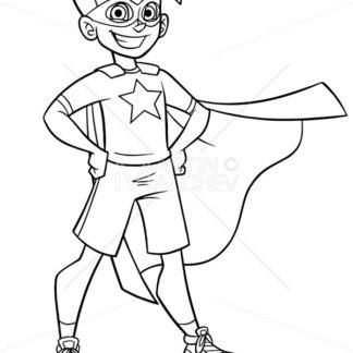 Little Super Boy Line Art - Martin Malchev