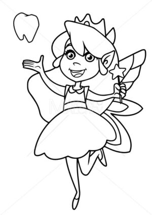 Little Tooth Fairy Line Art - Martin Malchev