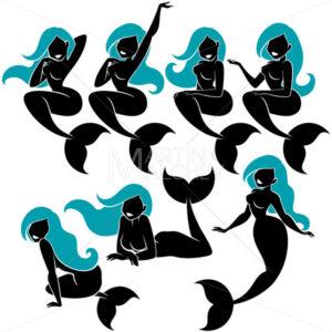 Mermaid Silhouette Set - Martin Malchev
