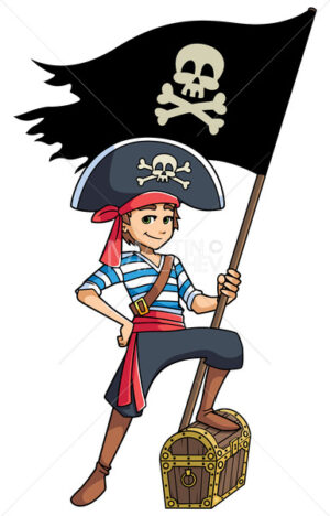 Pirate Boy Holding Flag - Martin Malchev