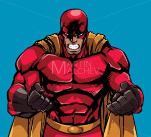Raging Superhero Illustration - Martin Malchev