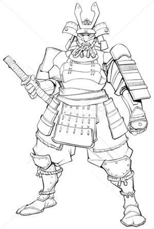 Samurai Warrior Line Art - Martin Malchev