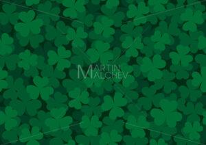 Seamless Clover Pattern Dark - Martin Malchev