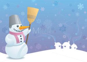 Snowman Background - Martin Malchev