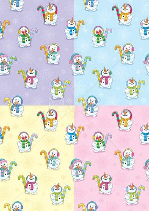 Snowman Seamless Patterns - Martin Malchev