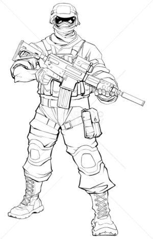 Soldier Line Art - Martin Malchev