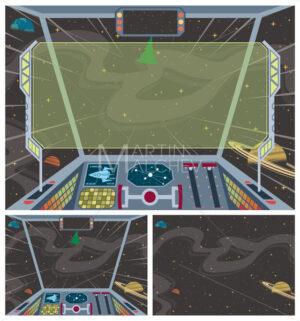 Spaceship Backgrounds - Martin Malchev